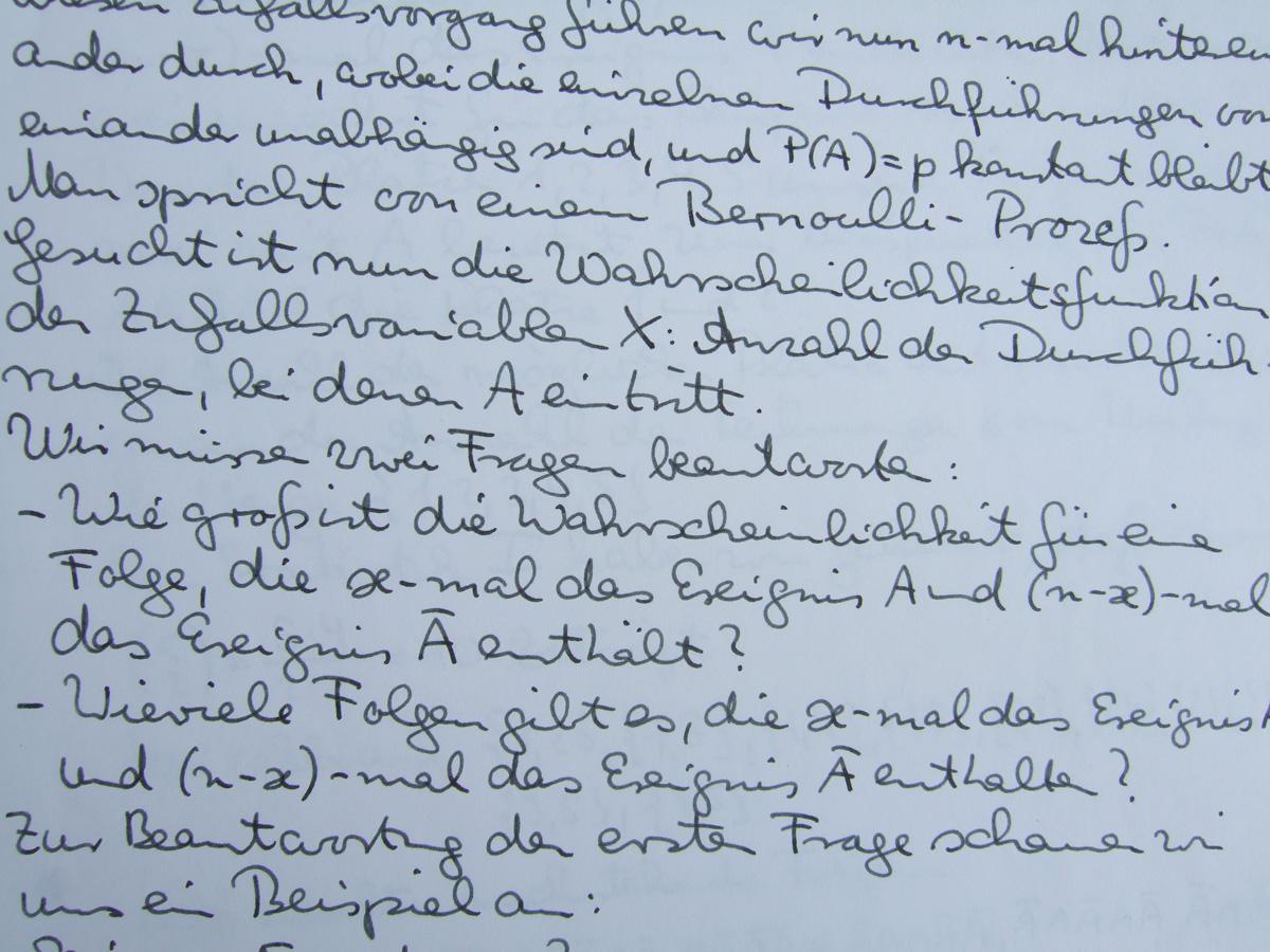 Handschriftliches